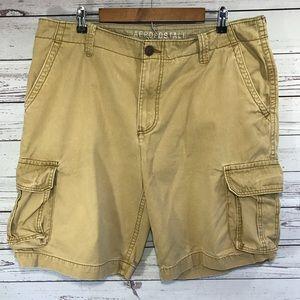 Aeropostale Size 38 Men's Khaki Cargo Shorts